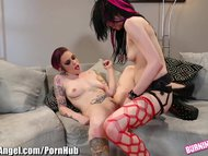 BurningAngel Horny Punk Lesbian Fucked Hard With Strapon