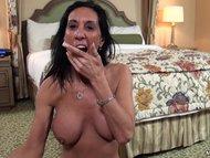 Busty tan cougar MILF POV porn