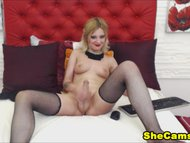 Blonde Teen Shemale Cam