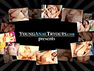 Young Anal Tryouts - Nina has a time with that cock in her arse
