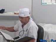 Uniformed doc cock jizzed