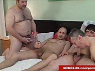 Sissy guy gangbanged by hung dudes