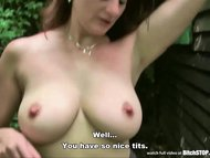 Bitch STOP - Busty hooker Michala fucked outdoor