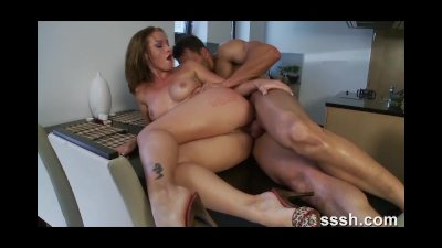 Porn for women Sssh.com Real couple fucking hard in the Kitchen