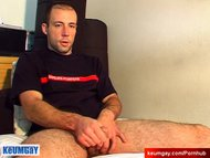 str8 guy get wanked his big cock by.