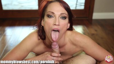MommyBB Nikki Hunter jumps on a young boy's dick!