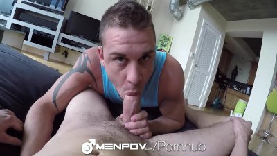MenPOV - Darin Silvers Fucks Sean Cross in 2-Way POV
