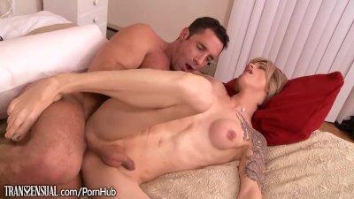 TransSensual Nina Lawless Erotic Assfucking with Guy