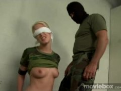 Slave doll gets punished and gags on cock
