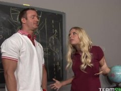 sexy blonde Riley Evans gets screwed by the dean