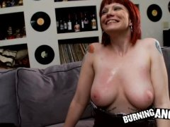 Emo redhead with big boobs and a pretty face gets fucked hard