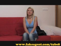 FakeAgent Daddys little princess exploited in Casting