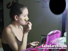 Lelu LoveMilky Gloved Dildo Handjob Blowjob