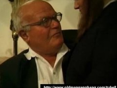 Old 7 Young perverts fuck busty schoolgirl