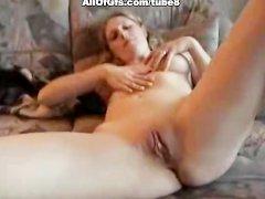 Amateur couple fucks in homemade video
