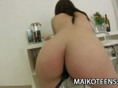Teen Japanese Ayaka Oda getting a helluva foreplay