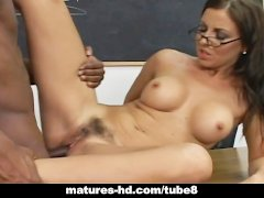 School teacher banged by big black cock