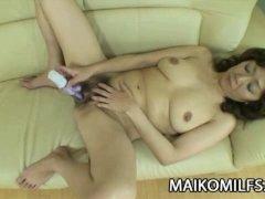 Mature Japanese babe Eriko Nishimura rides a hard cock