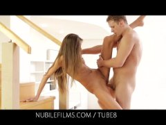 Nubile Films   Stiff cock gives Silvie Deluxe a full body orgasm
