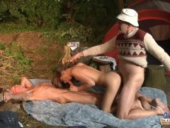- Two old men fuck a gir...