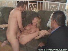 Hot Redhead Swinger Wife Screwing