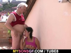 - Horny dad bangs his so...