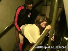 Risky daring sex in public and flashing