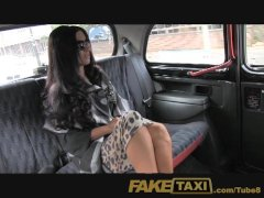 FakeTaxi Super hot posh totty takes a backseat fucking