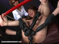 Massive Power Tools Used As Fucking Machines On Japanese Sex Slaves Pussy