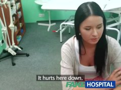 FakeHospital Young teen girl not on birth control bends over for doctors