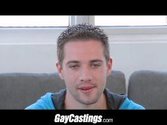GayCastings Twink gymnast is flexible on camera