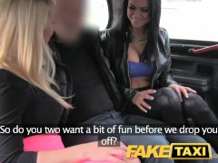 FakeTaxi Hot sexy taxi foursome gang bang
