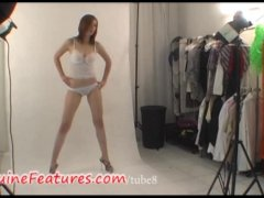 Nice teen in sexy backstage clip