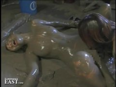 More Japanese FemDom Messy Mud Wrestling   Strange But True