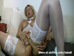Blond milf fisted hard and fucked in her ass