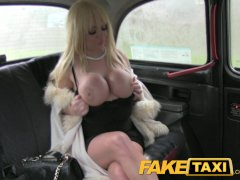 FakeTaxi Massive tits and blowjob lips