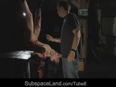Miho is serious tormented in bondage croatch ropes