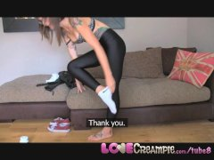 Love Creampie Tattooed Brit chick takes a load in pussy during fake casting