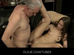 Old man blows young as... -