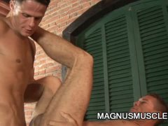 Marcos Cabo and Alex Victor: Latino Soldiers Outdoor Penetration