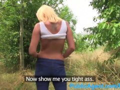 PublicAgent Lonely single white female gets fucked outdoors