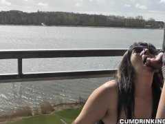 Slutwife gangbanged at holiday resort