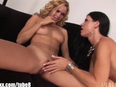 SunLustXXX Hottest LESBIAN milfs with STRAP ONs