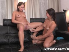 First golden showers for lesbian lovers