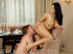 Nubile Films   Big natural tits covered in jizz