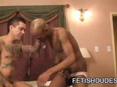 Max Sanchez And Cuba Santos: One Helluva Interracial Jockstrap Scene