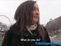 PublicAgent Beautiful brunette has sex for cash
