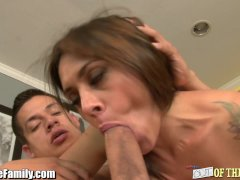 MILF Raylene Blows and Ass Fucked by Son In Law