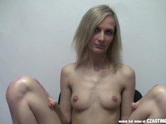 CZasting   Skinny Czech blonde at casting