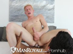 Guy cums all over Billy London